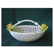 Small Open Weave Porcelain Basket Bowl