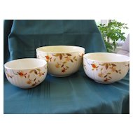 "Hall ""Autumn Leaf"" Three Nesting Bowl Set"