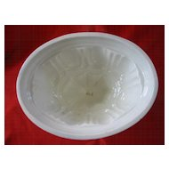 Stoneware Pudding Mold with Arch Pattern