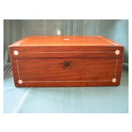 Victorian Box with Mother of Pearl Decoration