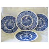 "Masons Blue and White Ironstone ""Vista"" Pattern Plates"