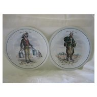 Two Paris Figure Plates 7 1/4""