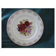 Vintage Floral Plate   Bone China