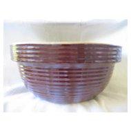 Vintage Stoneware Brown Mixing Bowl