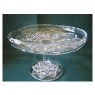 "Small 6"" Pattern Glass Cake Stand or Plate"