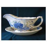 "Gravy Sauce Boat with Underplate  Mason's  Pattern ""Regency"""