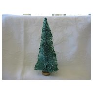 "Vintage Green Glitter 7"" Christmas Tree"