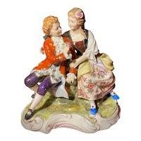18th Century Hochst Courting Couple Figurine