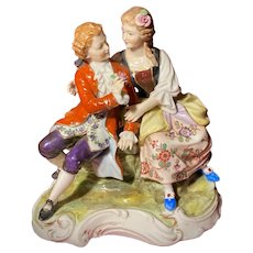 18th Century Hochst Courting Couple Figurine