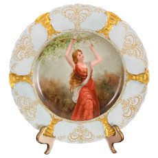 Haviland & Co Limoges France Hand Painted Plate