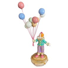 Ron Lee Clown with Pastel Balloons Sculpture Signed LE 950