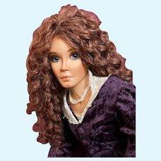 Karen Blandford Alderson Original Porcelain Artist Doll Angeline (Brunette) LE 1/10