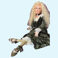 Karen Blandford Alderson Original Porcelain Artist Doll Angeline (Blonde) LE 2/10