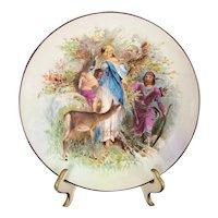 PH Leonard Austria Royal Vienna Style Hand Painted Portrait Plate Renaissance Revival