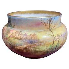 Antique Royal Doulton Hand Painted Vase Dover Castle H Betteley Studios Signed
