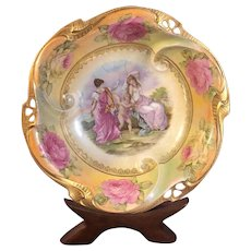 IPF Germany Porcelain Bowl Neoclassical Image of Cupid and Women