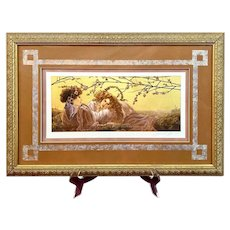 "Manuel Nunez ""In A Golden Light"" Mixed Media Cibachrome 23kt Gold Leaf Signed"