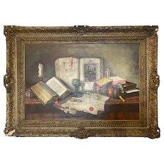 Original Still Life Oil on Canvas Janos Apatfalvi Czene Hungarian Master