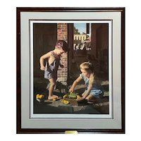 """Add Water and Stir"" Bob Byerley Signed/Numbered Lithograph LE 950 with Gallery CoA"