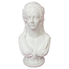 Furstenberg Parian Bisque Porcelain Queen Louise of Prussia Bust c. 1790's