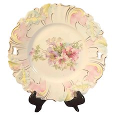 Saxe Altenburg RS Prussia Plate with Orchid Mold & Azaleas Design
