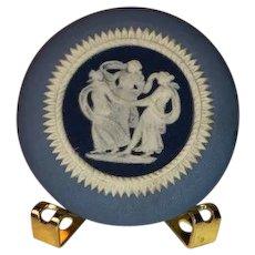 Wedgwood Blue Jasperware Cameo Medallion Three Graces