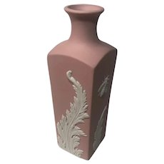 Wedgwood Jasperware Pink Collector's Society WCS Vase with Bees & Acanthus Leaves