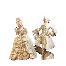 Vintage Florence Ceramics Marie Antoinette & King Louis XVI Figurines