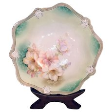 Antique RS Germany Cabinet Bowl with Lilies