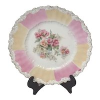 Antique RS Prussia Plate with Roses Design, Unmarked