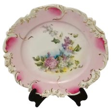 RS Prussia Plate with Floral Design, Unmarked