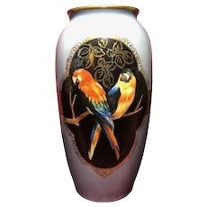 R.S. Germany Parrots Macaw Vase