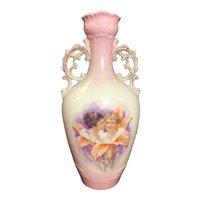 Victoria Austria Carlsbad Hand Painted Pink Portrait Vase