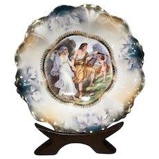 German Porcelain Kuno Steinmann Bowl with Aphrodite, Adonis & Eros