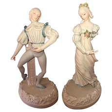 Cybis Ballet Figurine Set Sleeping Beauty Princess Aurora & Prince Florimund 192/500