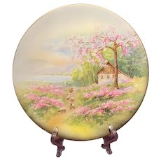 Antique RS Germany Sheepherder Plate