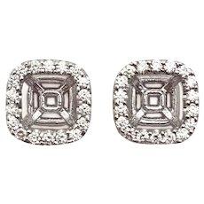 14 k White gold Diamond Earring Jackets