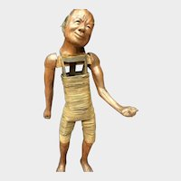 Rare Wooden puppet Japan 19th century