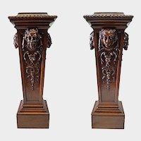 Pair massive wooden pillars, Europe
