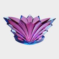 Art Deco Jardiniere - Aquamarine Glass