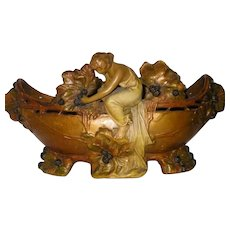 Art Nouveau Ceramic Jardiniere - Europe 1867