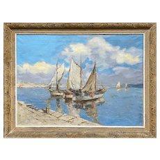 Ships - Rajko Tomić (1905-1966), Balkan painter