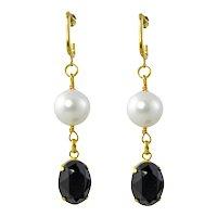 Noni drop fancy crystal earrings
