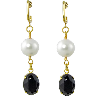 Noni drop fancy crystal earrings