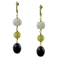 Theodora gemstone earrings