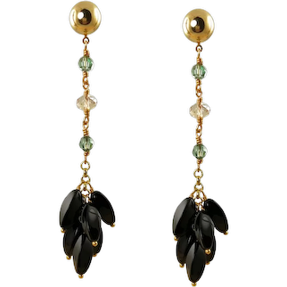 Amana - Gemstone and crystal drop Earrings