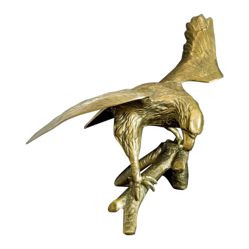 Large Brass Landing Eagle