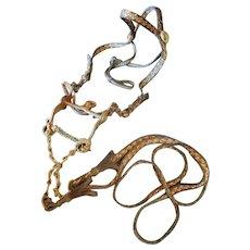 Yuma Prison Horsehair Bridle with Gal Leg Curb Bit