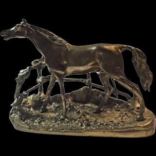 "Bronze casting from  Pierre-Jules Mene ""Djinn Etalon Barbe"""