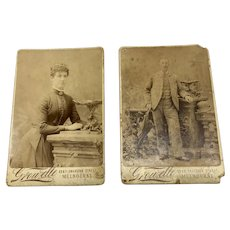 Pair Of Late Victorian 1800s Photos